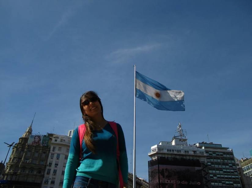 Mariana Buglia em seu primeiro intercâmbio, na Argentina (foto: acervo pessoal)