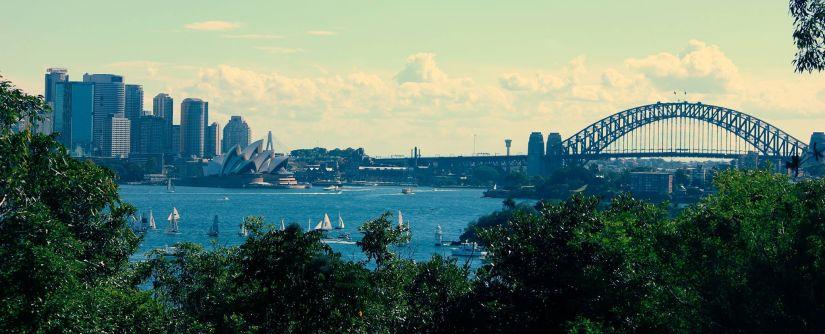 Vista da Harbour Bridge com a Opera House (Foto: Maísa Fernandes)
